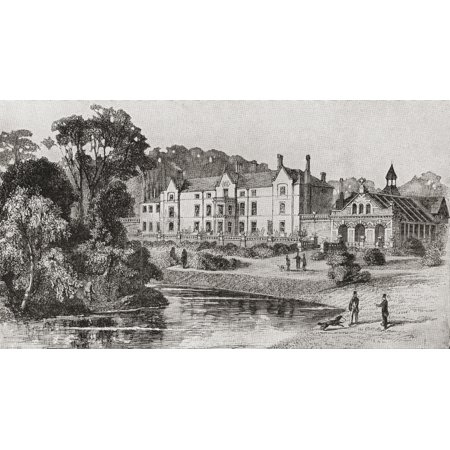Sandringham House Sandringham Norfolk England in 1862 From Edward VII His Life and Times published 1910 Canvas Art - Ken Welsh Design Pics (18 x 10)