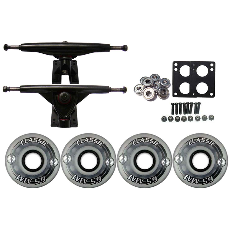 KRYPTONICS CLASSIC Truck Wheel Pack 65mm CLEAR 180mm Black
