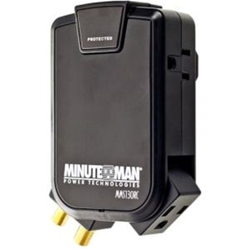 MINUTEMAN UPS WALL TAP (3) SIDE-MOUNTED OUTLETS 180 JOULES COAX