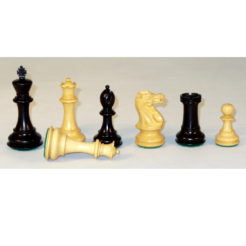 Checkmate Black and Natural New Classic Chess Pieces