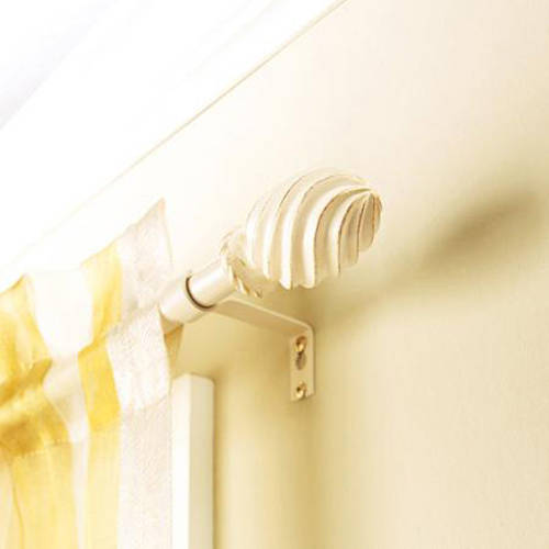 "Better Homes and Gardens 5 8"" Cream Swirl Curtain Rod, 28""-48"" or... by Generic"