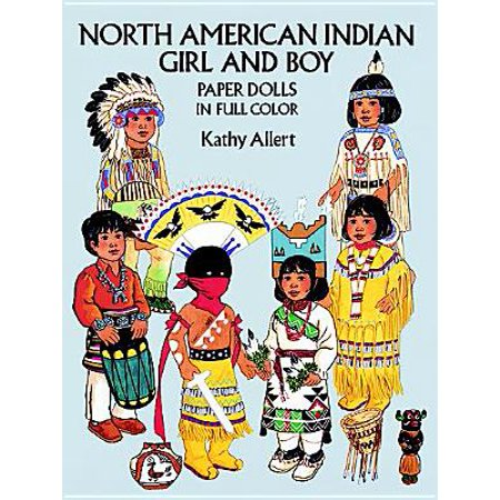 North American Indian Girl and Boy Paper Dolls - Girls Indin