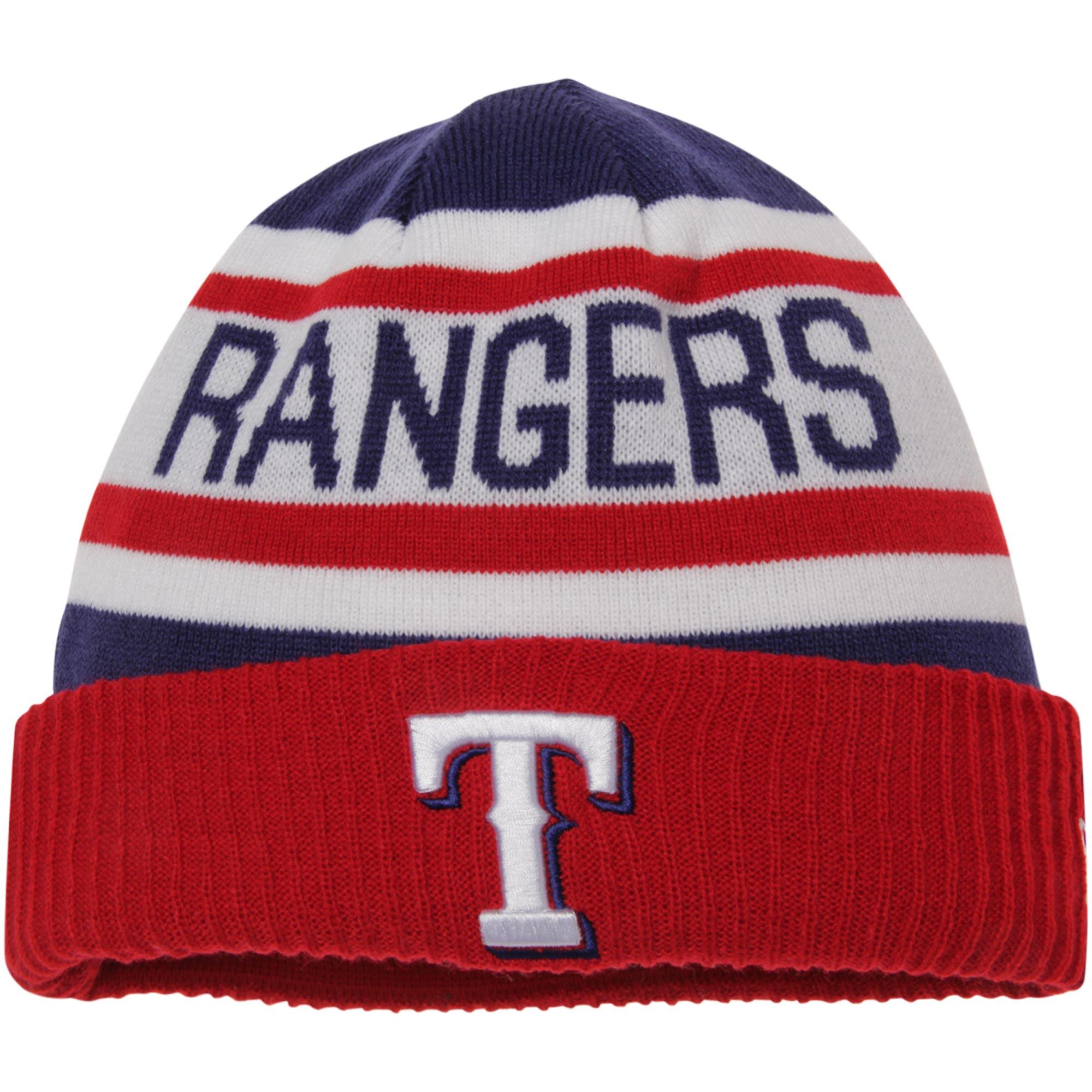 Texas Rangers New Era Biggest Fan 2.0 Cuffed Knit Hat - White/Red - OSFA