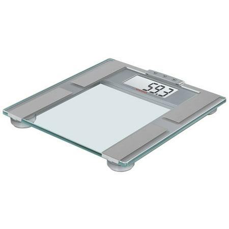 Soehnle BODY BALANCE Pharo 200 Precision Digital Analytic Bathroom BIA/BMI Scale, 440 lb Capacity, Silver