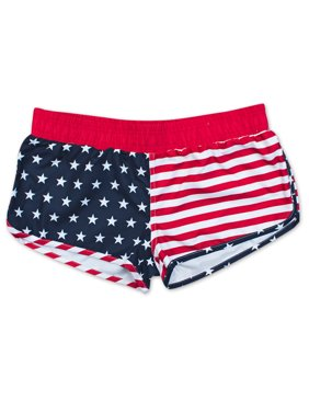 c3c74464b5fa1f Product Image USA Patriotic American Flag Junior Swim Shorts