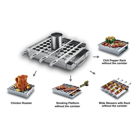 Bbq Aid Ultimate 5in1 Grilling Accessory Easily Make Great