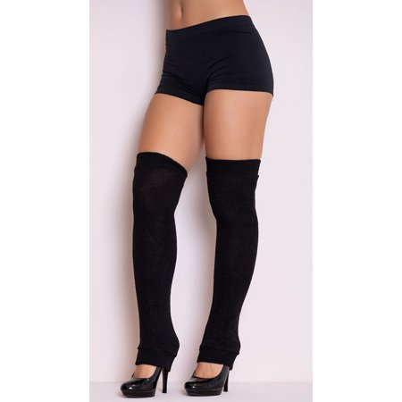 Thigh High Leg Warmers, Black Leg Warmers