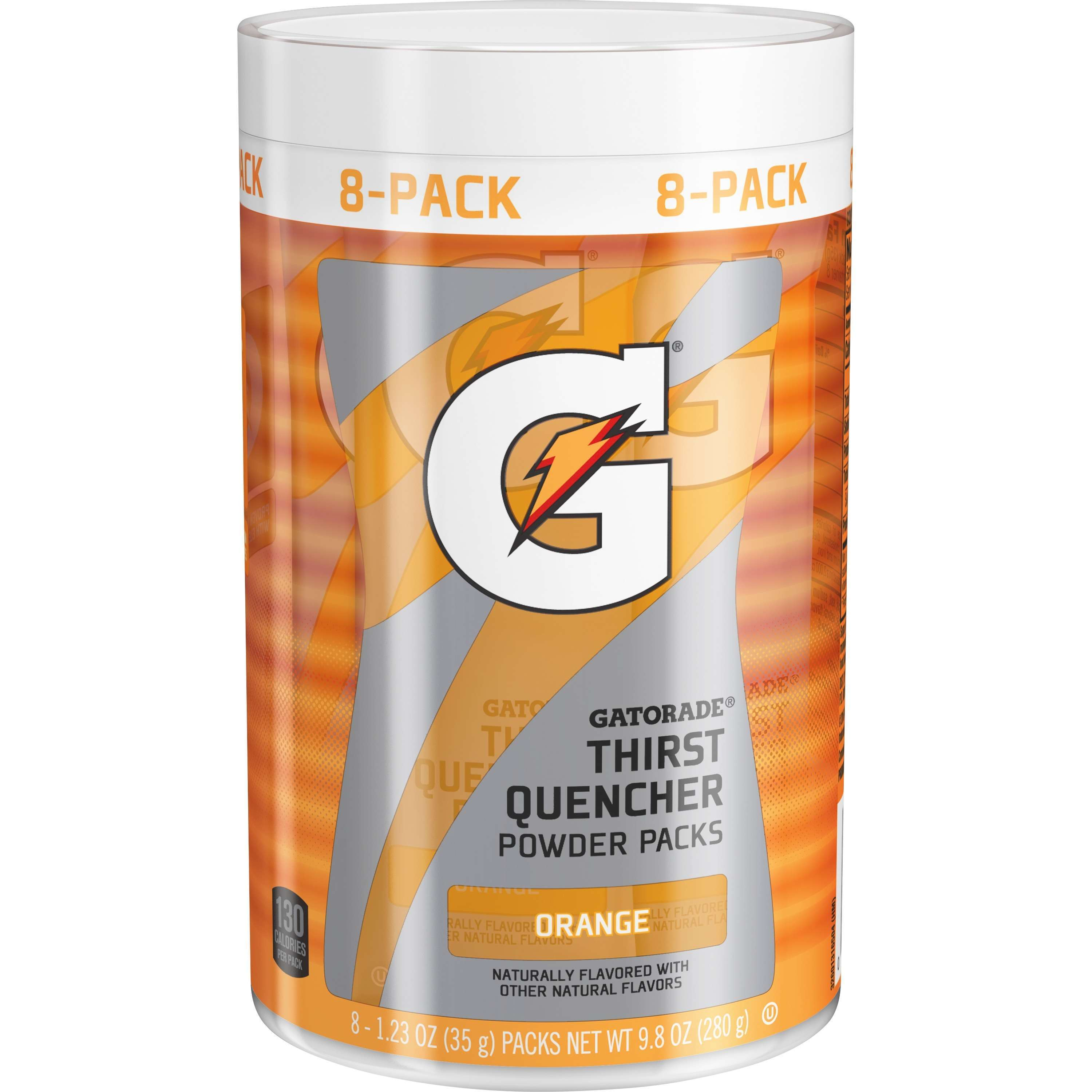 Gatorade G Orange Thirst Quencher Powder Packs 8-1.23 oz. Packs