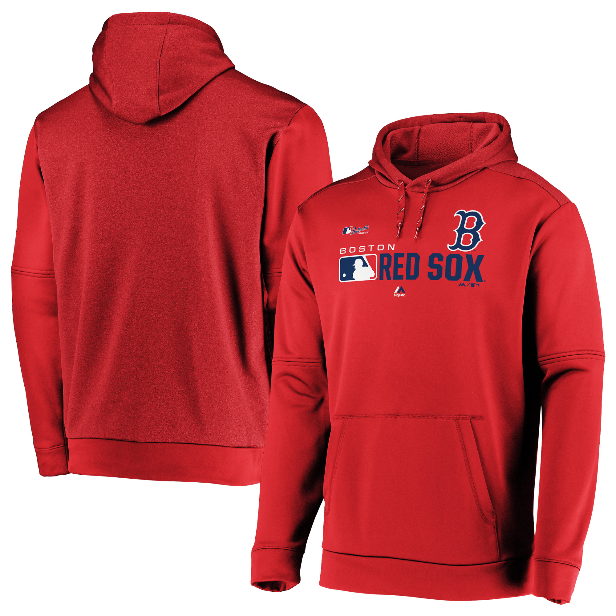 Boston Red Sox Majestic Authentic Collection Team Distinction Pullover Hoodie - Red