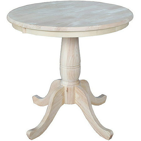 concepts 30 round pedestal table unfinished