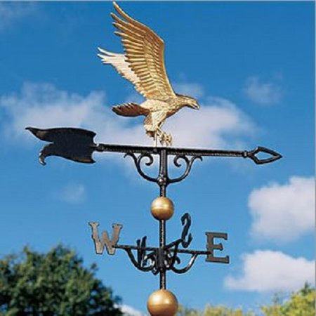 Whitehall Products Eagle Weathervane, 46-Inch, Verdigris