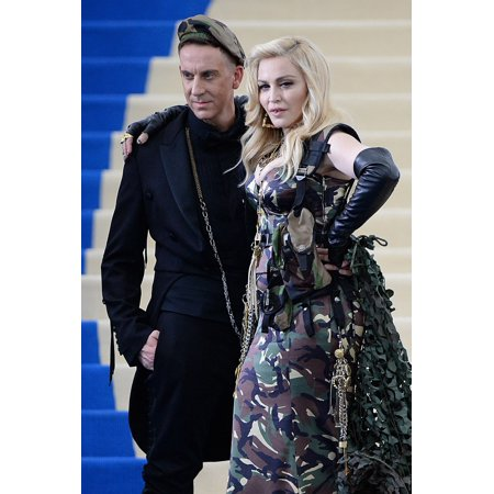 Jeremy Scott Madonna At Arrivals For Rei Kawakubo & Comme Des Garcons Costume Institute Gala - Arrivals 2 Mentropolitan Museum Of Art New York Ny May 1 2017 Photo By Kristin CallahanEverett