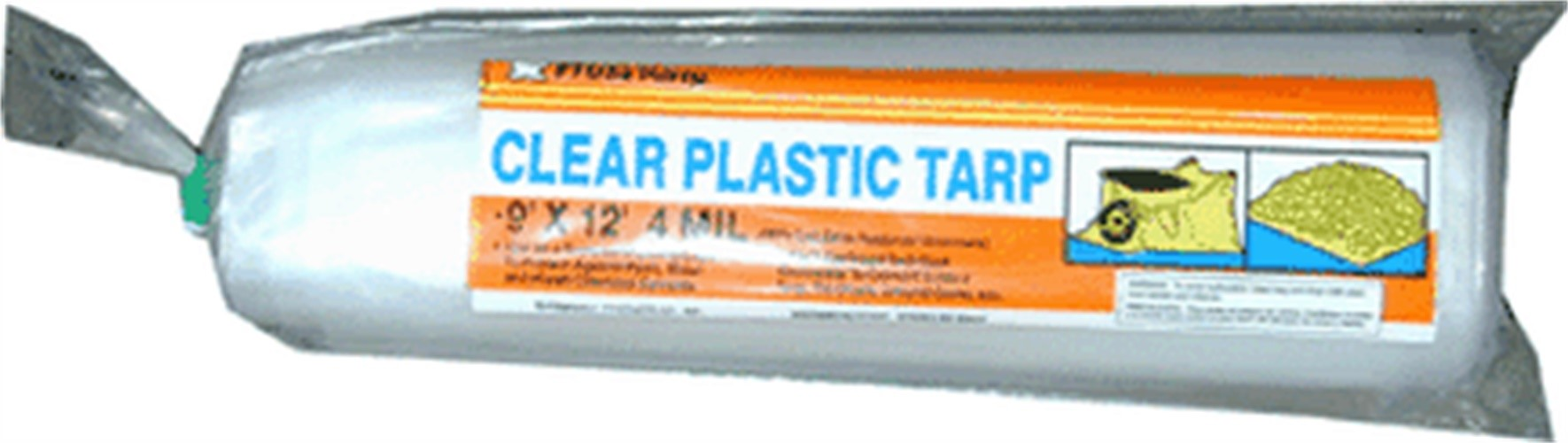 p912g 9u0027 x 12u0027 4 mil clear plastic tarp poly roll drop cloth w