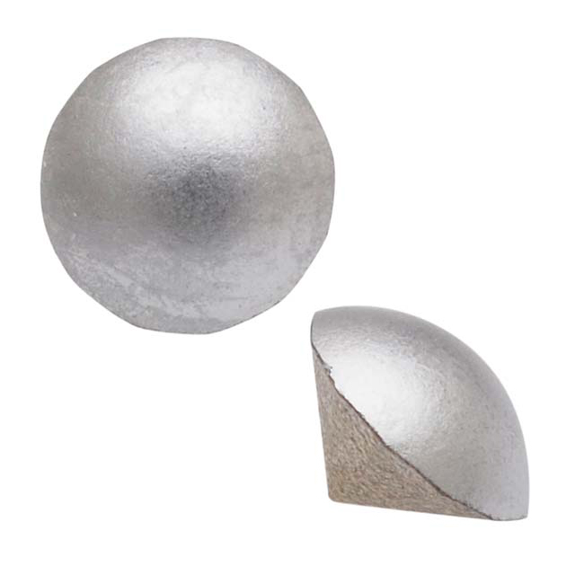 Swarovski Crystal, #1480 Cabochon Chatons pp21, 50 Pieces, Crystal Matte Chrome Foiled
