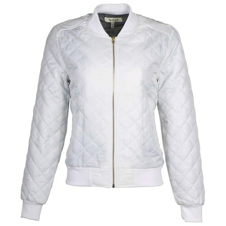 Ag Womens Quilted Bomber Jacket By 9 Crowns Essentials Walmart