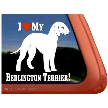 I Love My Bedlington Terrier Adhesive Vinyl Dog Window Decal