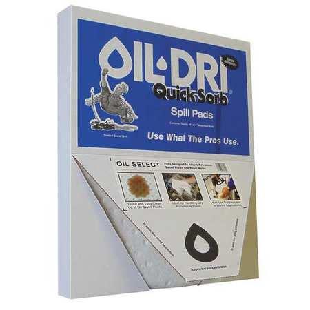 OIL-DRI Absorb Pad,Oil-Based Liquids,White,PK20 L70320