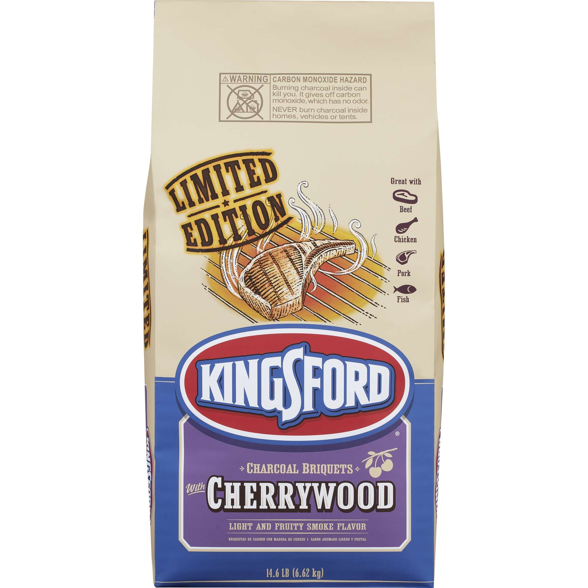 Kingsford Original Charcoal Briquettes with Cherrywood, 14.6 lbs