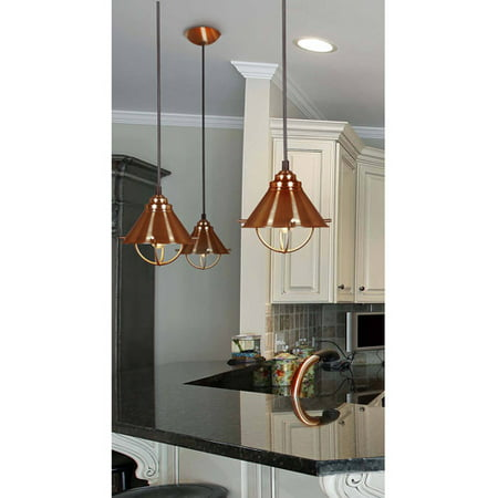 Kenroy Home Harbour 1-Light Mini Pendant, Copper