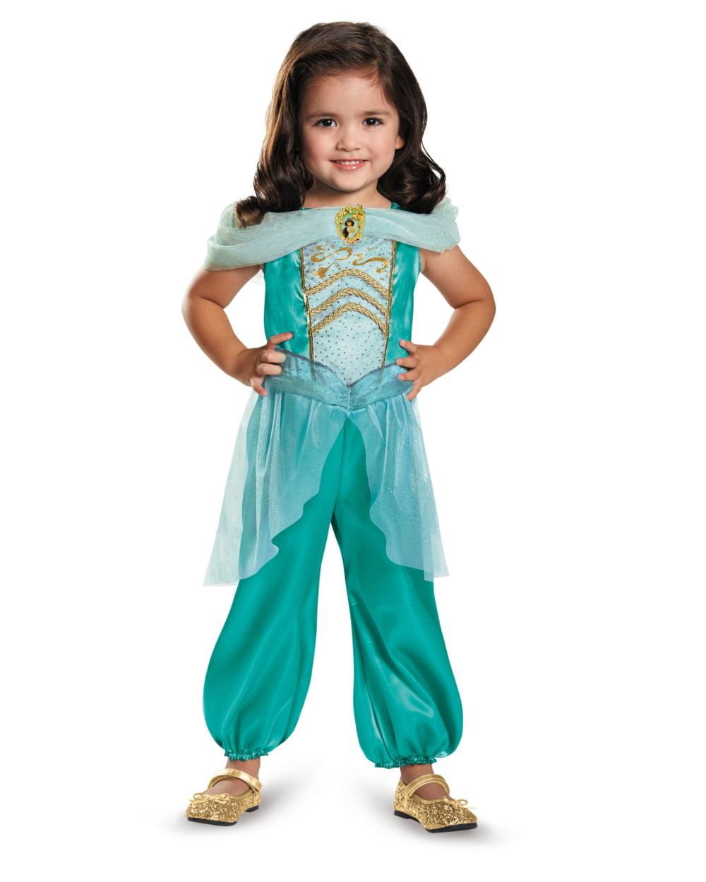 disney princess jasmine classic child halloween costume small 4 6 walmartcom - Kids Disney Halloween Costumes