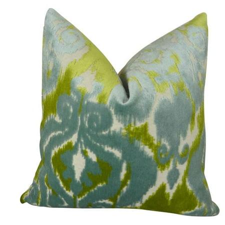 """Plutus Velvet Bliss Water Handmade Throw Pillow, (Double sided 16"""" x 16"""") - image 1 de 1"""