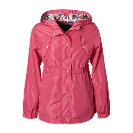 Limited Too Toddler Girls Butterfly Print Hooded Lightweight Anorak Jacket (Size 2T-4T) Toddler Girls Jacket