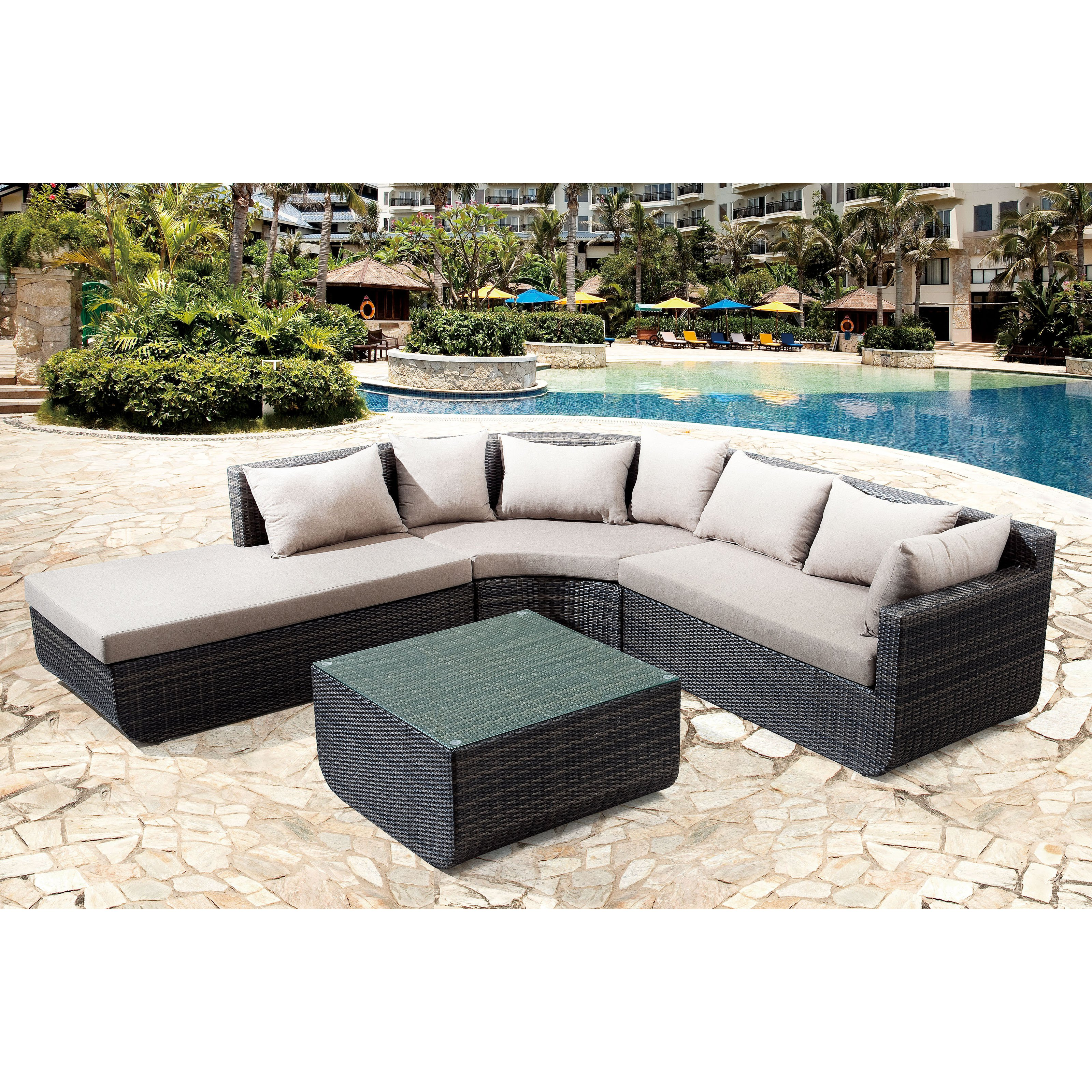 Zuo Vive Captiva All-Weather Wicker Sectional Set