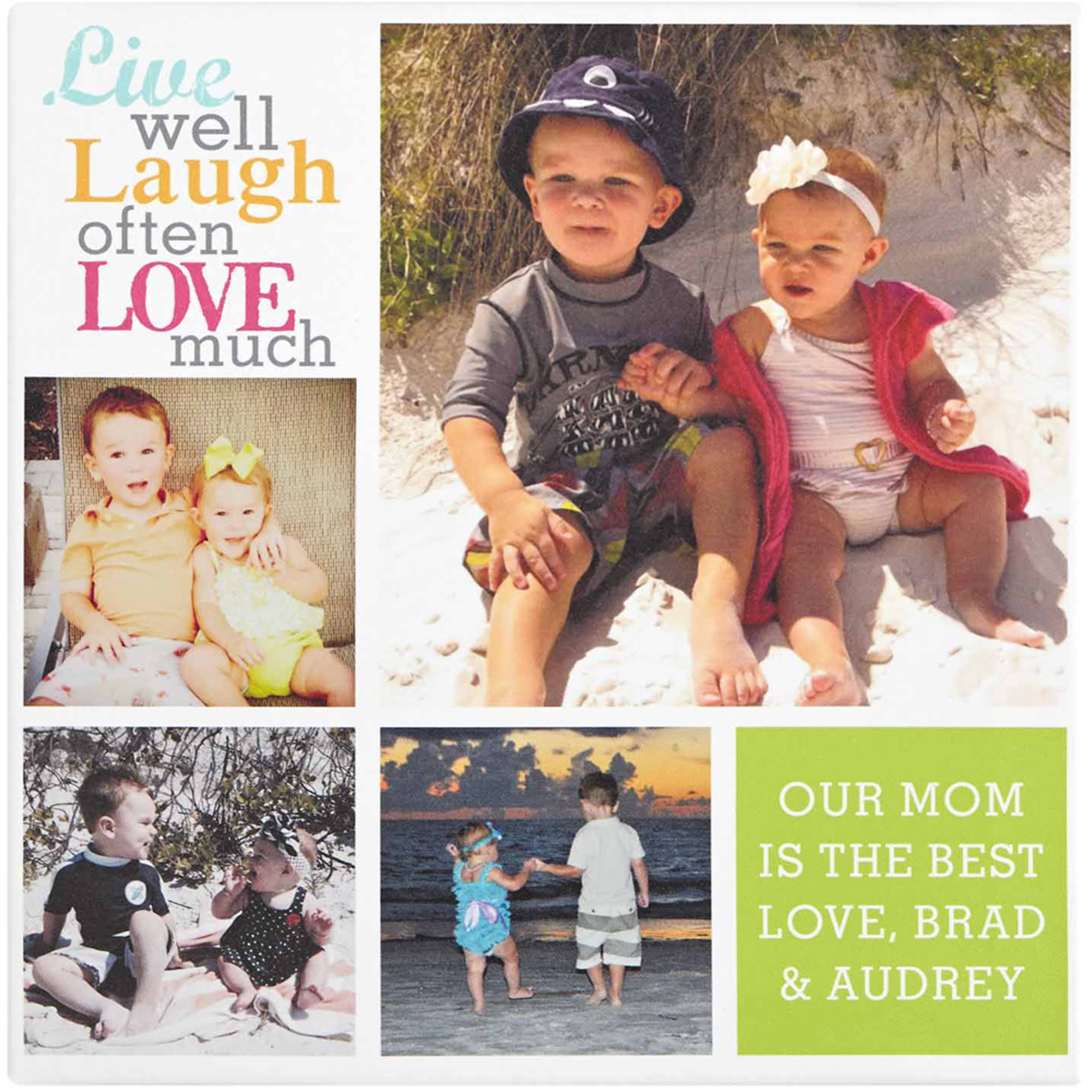 Personalized Live Laugh Love Photo Canvas, Color