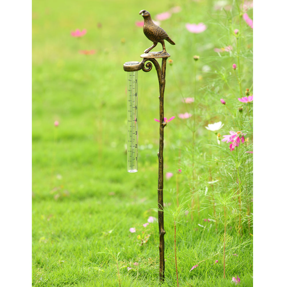 Quail Rain Gauge Holder by SPI Home