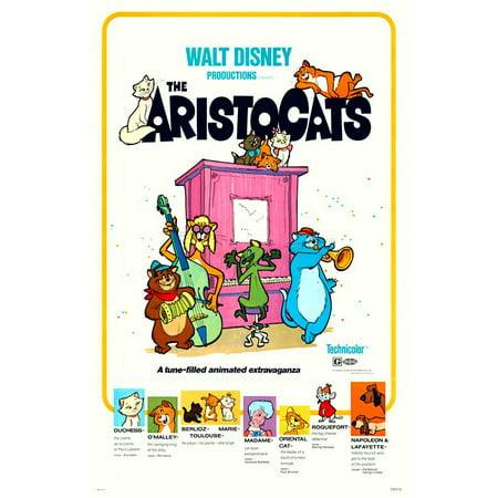 Aristocats (1980) 11x17 Movie Poster - Halloween 1980 Trailer