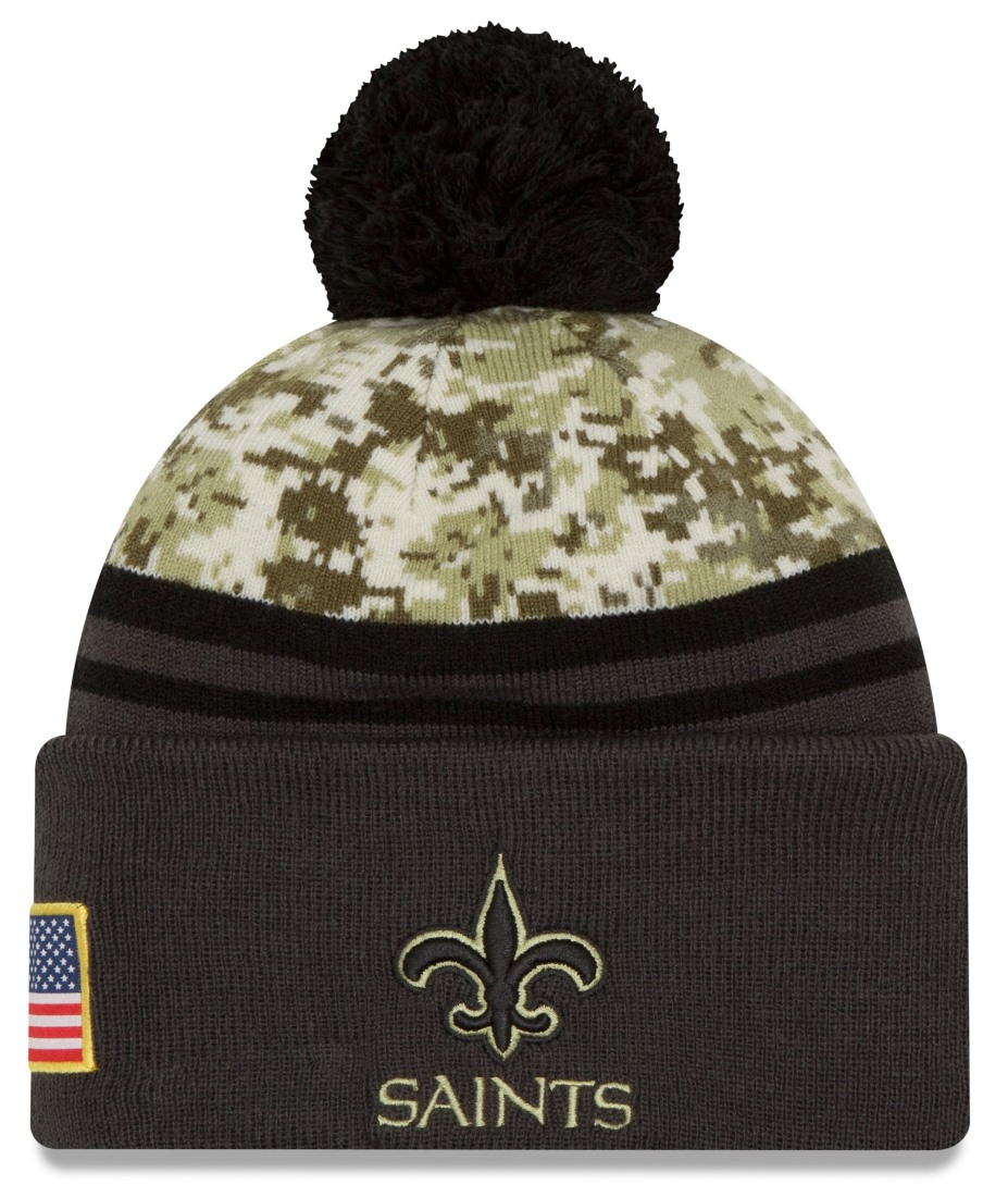 "New Orleans Saints New Era 2016 NFL Sideline ""Salute to Service"" Sport Knit Hat by New Era"