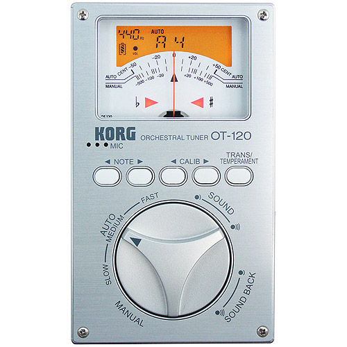 Korg OT120 Chromatic Orchestral Tuner with 8 Octave Detection Range