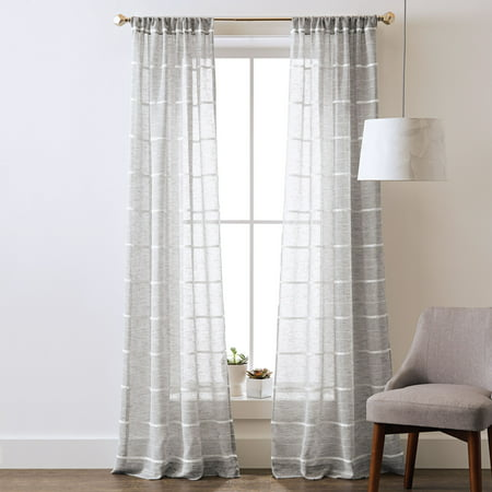 Better Homes and Gardens Woven Stripe Pole Top Panel (Bradford Stripe)
