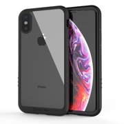 iPhone X (2017) Azure Full-Body Transparent Bumper Case with Built-in Screen Protector and Transparent Back Casing