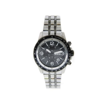 - 21389 Men's Specialty Chrono Two-Tone Steel Black Mop Dial Black Bezel Watch
