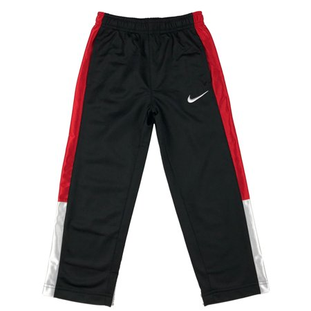 Nike Athletic Track Pants - Nike Boys Toddler Athletic Track Sweat Pants w/Pockets Black/White/Red New (6)