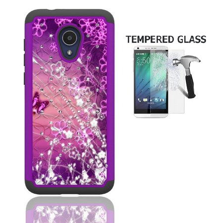 release date: 9ae28 53eeb Phone Case for Straight Talk Alcatel TCL LX / TracFone Alcatel TCL LX /  Alcatel idealXTRA Case / Alcatel 1X Evolve, Studded Diamond Cover Case + ...