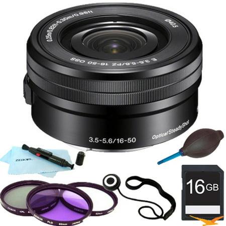 Sony SELP1650 - 16-50mm Power Zoom E-Mount Lens Essentials Bundle