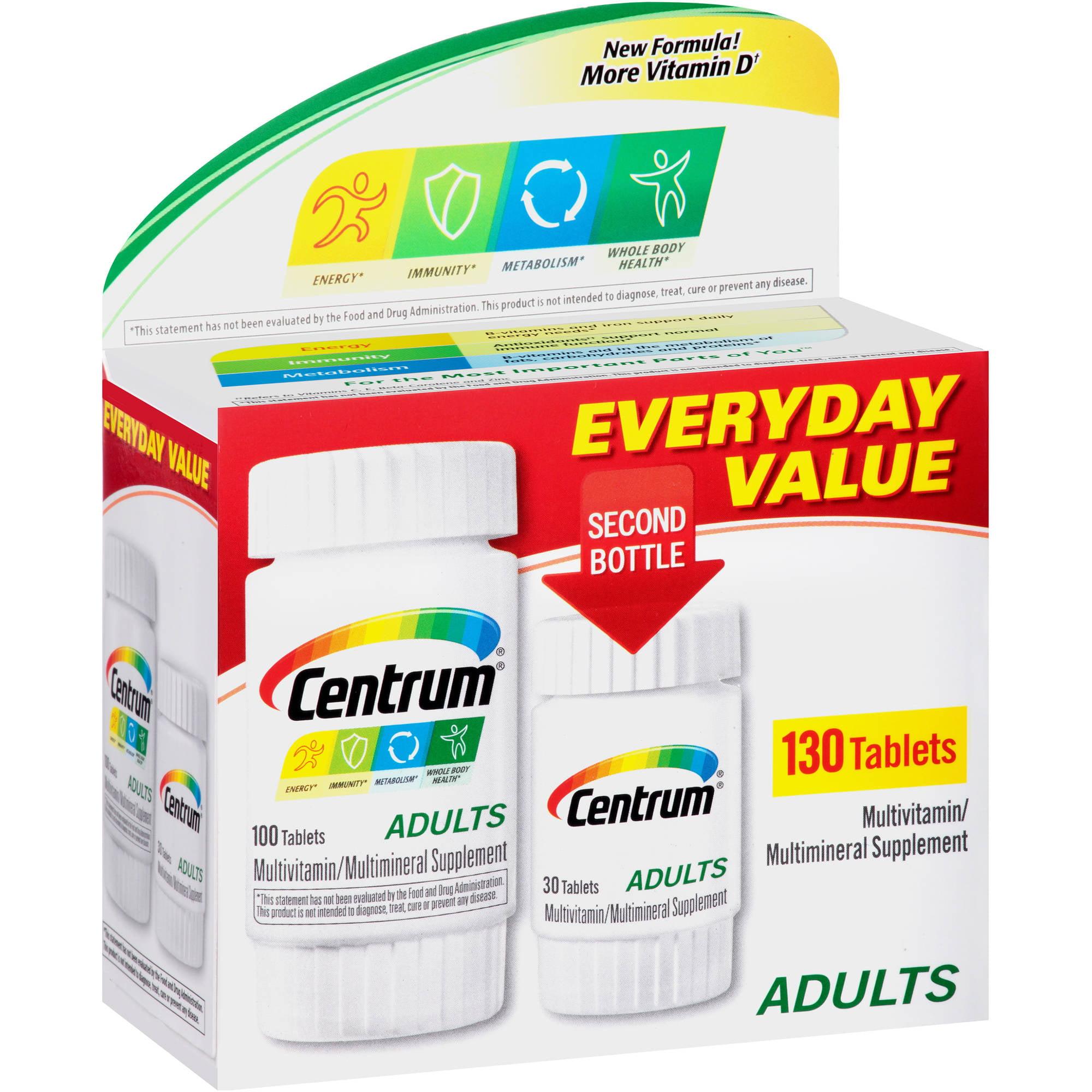 Centrum Adult Multivitamin/Multimineral Tablets 130 Count