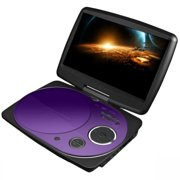 Impecca DVP916PU 9-In Swivel Portable DVD Player Purple