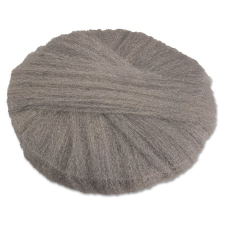 GMT Radial Steel Wool Pads, Grade 0 (fine): Cleaning & Polishing, 17 in Dia, Gray