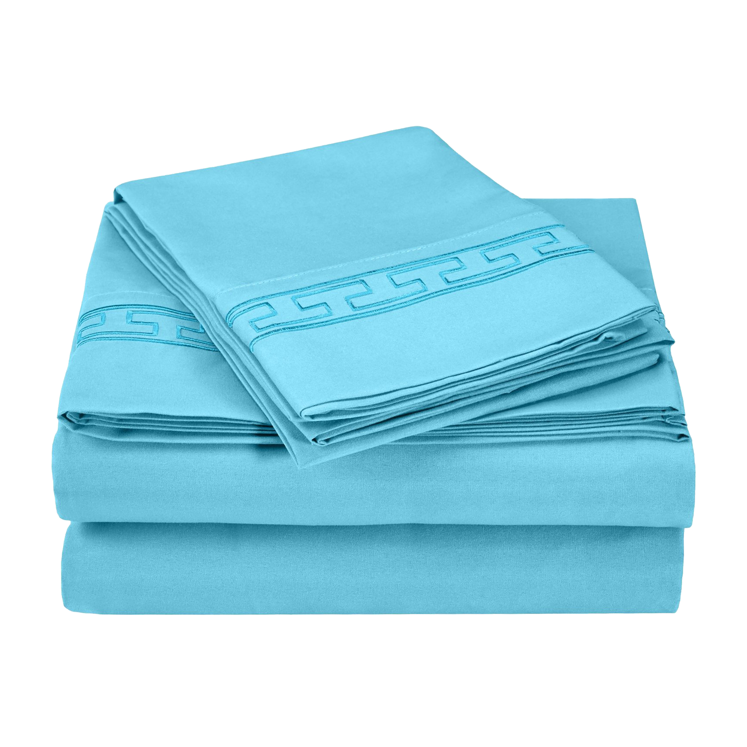Superior Light Weight and Super Soft Brushed Microfiber, Wrinkle Resistant Sheet Set with Regal Embroidery