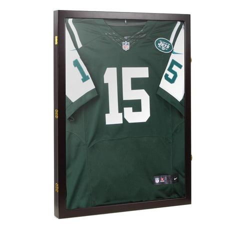 (Yescom Football Baseball Basketball Jersey Display Case Frame 98% UV Protection Shadow Box XL)