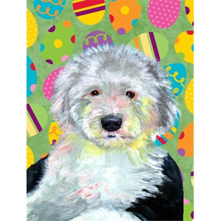 Carolines Treasures LH9441GF 11 x 15 in. Old English Sheepdog Easter Eggtravaganza Garden Size Flag - image 1 de 1