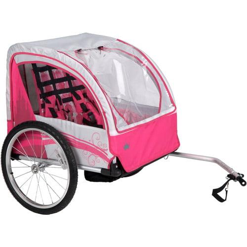 Huffy Disney Princess Girls Bike Trailer Gray Pink