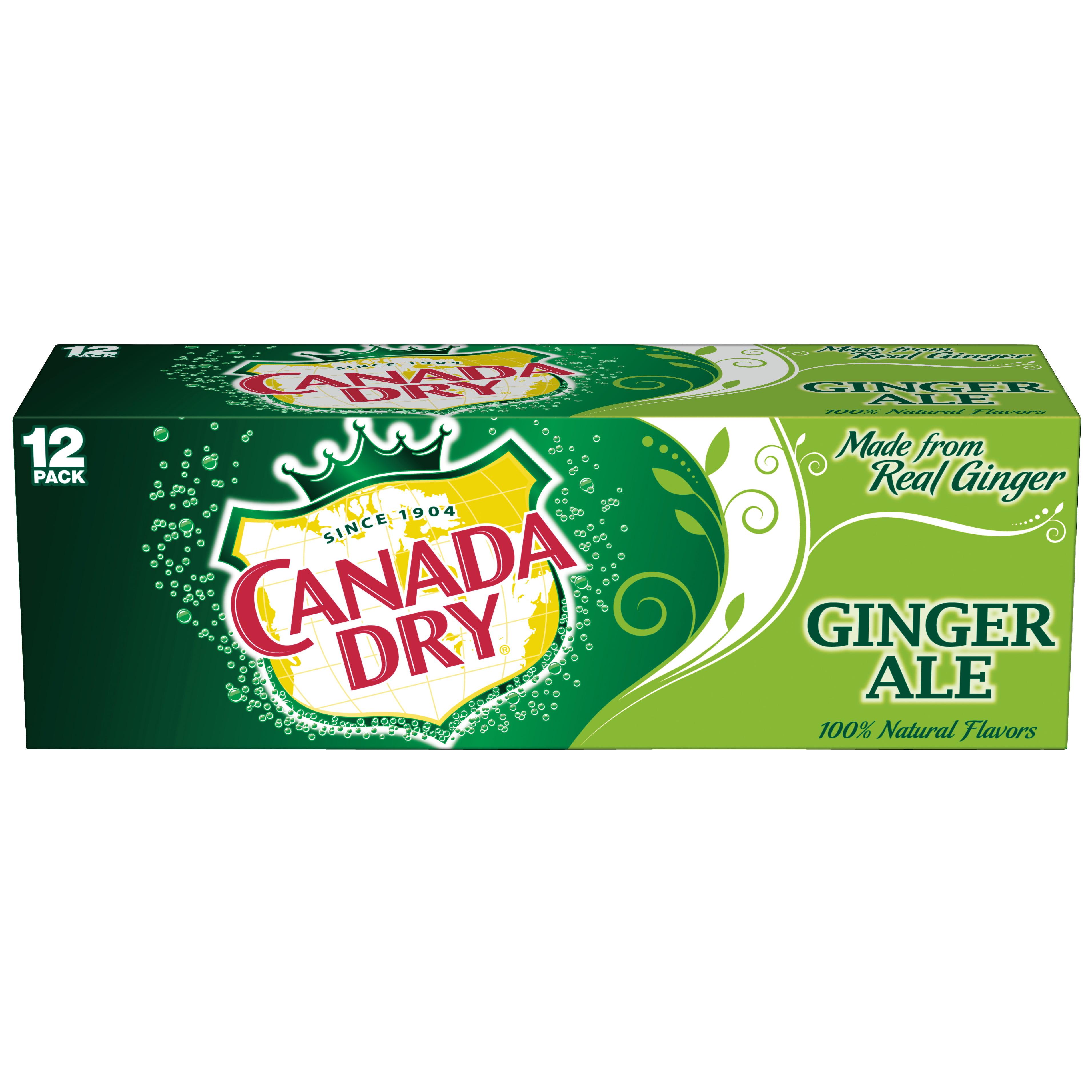 Canada Dry Ginger Ale, 12 fl oz, 12 pack