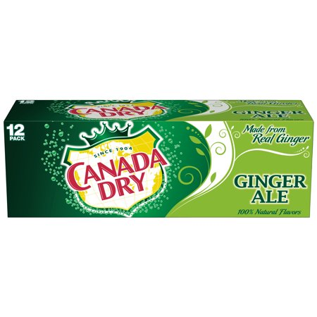 (2 Pack) Canada Dry Ginger Ale, 12 Fl Oz Cans, 12 Ct