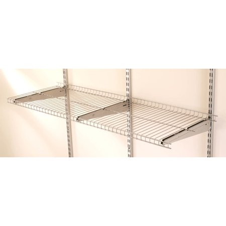 Rubbermaid Commercial Products 3 Shelf - Rubbermaid Home Prod Dorfile FG5E2102SNCKL FastTrack 4' Wire Shelf