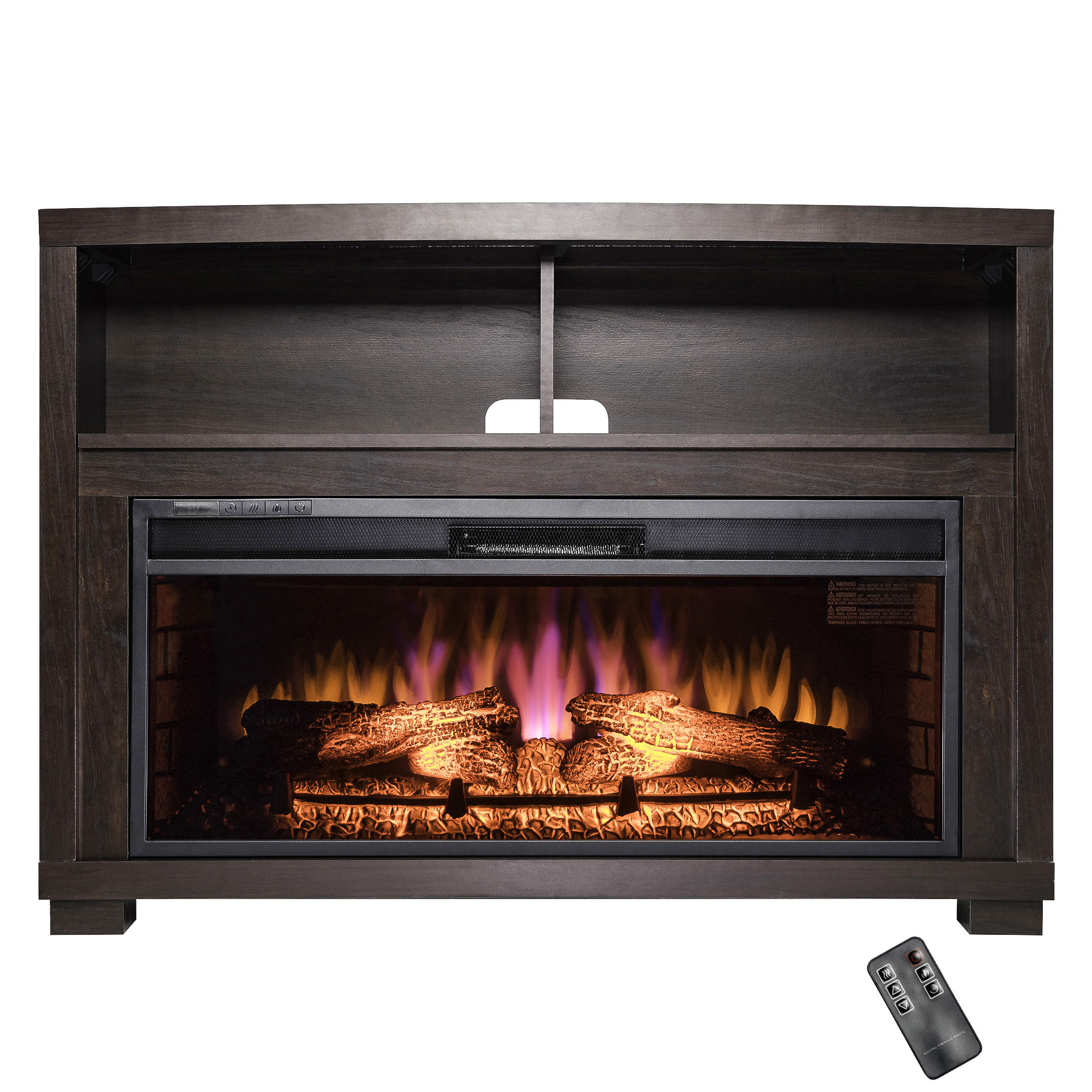"AKDY FP0096 44"" Freestanding Electric Fireplace Brown"
