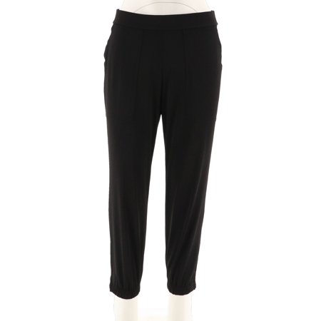 Lisa Rinna Collection Banded Bottom Knit Crop Pants